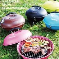 【日本 VACANCES】野餐度假 BBQ 輕量  馬卡龍造型烤肉爐