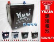 高雄 湯淺汽車電池 75D23L 75D23R YUASA免保養電池 75D23L-SMF 75D23R-SMF GS 統力汽車電瓶