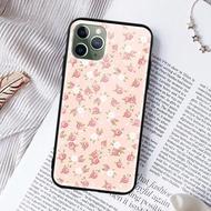 粉紅碎花花亮面手機殼iPhone 12 mini Pro Max 三星紅米小米華為