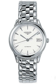 LONGINES 浪琴錶 L47744126旗艦經典腕錶/白面35.6mm