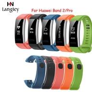 適用Huawei Band 2 / Pro替換腕帶 矽膠錶帶 運動透氣時尚錶帶 5色可選 現貨