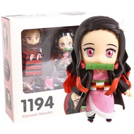 Demon Slayer Zenitsu Agatsuma 1334 Kamado Tanjirou 1193 Nezuko 1194 PVC Action Figure Collectible Model Toy Q Face Doll