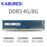 Kaburesi ยี่ห้อปิดผนึก DDR3 2GB/4GB 1066 MHZ 1333MHz 1066MHz หน่วยความจำ RAM memoria RAM สำหรับ desktop PC