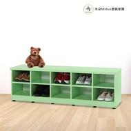 塑鋼兒童座鞋櫃 防水塑鋼家具(10格)【米朵Miduo】