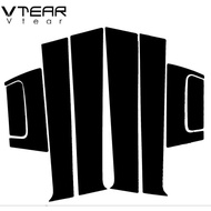 Vtear For Honda HRV HR-V Vezel XRV XR-V 2014-2019 accessories car window B C pillar sticker trim black mirror reflection panel Exterior anti scratch