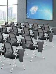 折疊培訓椅帶桌板會議椅學生桌椅一體帶寫字