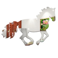 3D Galloping Horse Mirror Wall Sticker