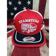 Teamsters cap trucker 3Line snapback ! Topi Teamsters vintage tag made in usa