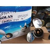 Propeller / kipas Solas stainles mesin tempel Yamaha 40pk ukuran 15in
