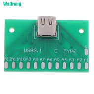 Low price✔ Type-C Female Head Test Board Usb 3.1 Connector Board With Pcb Board 24P Base