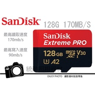 Sandisk Extreme Pro Micro SD 128GB 170MB/s V30 UHS-I A2 支援4K
