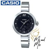 CASIO นาฬิกาข้อมือผู้หญิง สายสแตนเลส รุ่น LTP-E154D