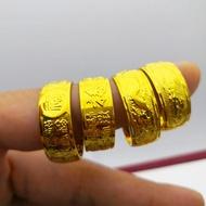 ทองปลอม ทองปลอม ไม่ลอกทอง ครึ่งหนึ่งของเงิน ครึ่งทอง ทองปลอมไม่ลอก ทอง แหวนทอง ทองครึ่งสลึง ทองคำแท้ครึ่งสลึง แหวนทองครึ่งสลึง แหวนทองคำแท้ แหวนทอง1กรัม เหล็กไหล เเหวนทอง แหวนทอง 18K ผู้ชายสี่เหลี่ยมจัตุรัส เลียนแบบทอง 9mm กว้างหน้าชุบทอง
