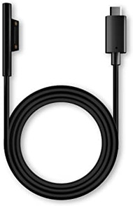 USECL Surface Connect to 65W USB-C Charging Cable Compatible with Microsoft Surface Go. Pro 7/6/ 5/4/ 3, Surface Book1/2,Surface Laptop1/2, Male USB-C Connector Black Cord 1.8Mtr(5.9FT).