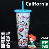 美國 星巴克 加州 隨行杯 24oz 城市馬克杯 系列 和 星巴克 魔羯星座馬克杯 星巴克 時代人魚女神玻璃杯 一樣好看