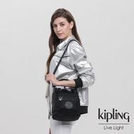 【KIPLING】未來質感黑都會多用途水桶手提側背包-VIOLET S