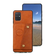 Card Slot Flip Leather Samsung A51 Case Coque Samsung A71 Luxury Case Etui A 71 A 51 A81 91 A21 Samsung Galaxy A51 Cover