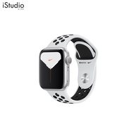 Apple Watch Nike Series 5 GPS, 44mm Silver Aluminium Case with Pure Platinum/Black Nike Sport Band [iStudio by UFicon]