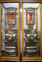 2尺7 獅子燈 招財燈 安金 雙色 錫燈 含框