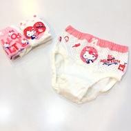 【亞蘭夢藤兒童內褲】Hellokitty45週年純棉 女童三角內褲-3入