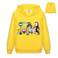 Kawaii TOTORO Print Sweatshirt For Kids Autumn Boys  Hoodies Anime Sportswear