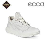 【ecco】ST.1 LITE M 皮革防水運動休閒鞋 男鞋(白 50422401007)