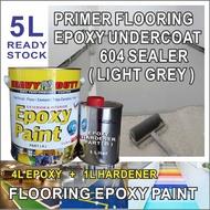 5L ( 5 Liter ) PRIMER FLOORING ( 604 SEALER ) HEAVY DUTY BRAND EPOXY PAINT UNDERCOAT floor and wall heavy duty
