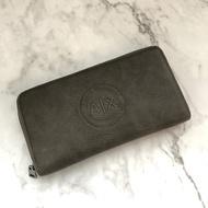 美國百分百【全新真品】Armani Exchange AX 皮夾 長夾 配件 證件夾 鈔票 男夾 灰色 AE51