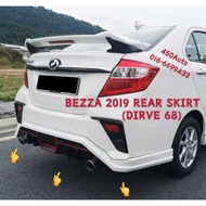 PERODUA BEZZA 2019 2020 DRIVE 68 D68 bodykit body kit front side rear skirt lip diffuser PU