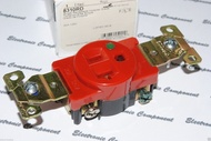 美國 COOPER 8310RD 20A 125V NEMA 5-20 (SINGLE型) 紅色單孔單聯醫療級插座