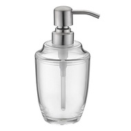LAZADA Brushed Nickel Hand Soap Dispenser Refillable Clear Plastic Pump Bottles Countertop Lotion 12
