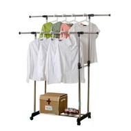 雙桿落地曬衣架 CC011 升級版 一層 掛衣架 雙桿衣架 吊衣架 伸縮升降晾衣架 移動式多功能曬衣 收納置物架 衣櫥