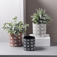 Cement Flower Pot Cement Potted Industrial Wind Office Potted Nordic
