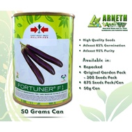 FORTUNER F1 EGGPLANT SEEDS (50g CAN)
