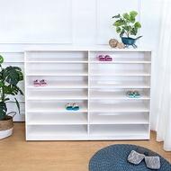 Boden-防潮防蛀 防水塑鋼5尺開放式鞋櫃(白色)