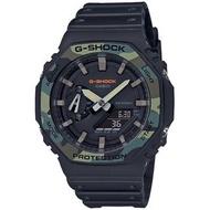 【CASIO 卡西歐】G-SHOCK 迷彩八角農家橡樹雙顯手錶(GA-2100SU-1A)