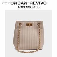 woman bagpack drawstring pouchURBAN REVIVO2019 autumn new ladies accessories fa