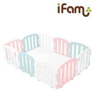 【Ifam】簡約風圍欄套組-混搭圍欄+灰白雙色地墊(遊戲圍欄/遊戲地墊)