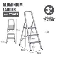 HOUZE - Aluminium 3 Tier Ladder