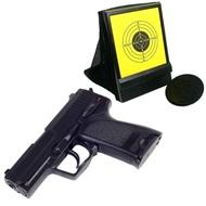 P8加重版強力彈簧6mm手拉空氣BB槍+網狀帶集彈器槍靶