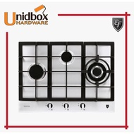EF EFH 3761 TN VSB 68CM Stainless Steel Gas Hob-PUB/EF/3 Burners/Kitchen Appliances/Cooking Hobs/Gas Stove/Kitchen Colle