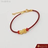 ราคาถูก Bangkokgolds สร้อยข้อมือ ปี่เซียะ ทองคำ 99.99% น้ำหนัก 0.3 กรัม *ทองแท้ *