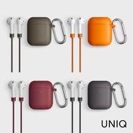 【UNIQ】AirPods Vencer 二代全包藍牙耳機矽膠保護套 配掛鉤防丟線、耳機套(適用airpods 1/2代)