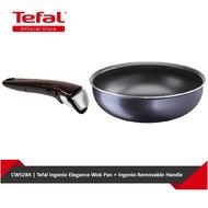 Tefal Ingenio Elegance Wok Pan + Ingenio Removable Handle (L23177 + L99331) CWS284