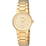 Citizen Gold Stainless Steel Quartz Ladies Watch EU6012-58P