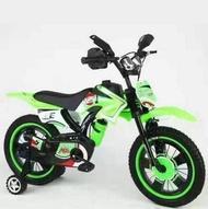 大笪地 - 超型彷電單車兒童單車(綠色 16寸)適合4-6歲