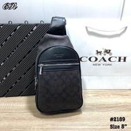 Bag กระเป๋าแฟชั่น กระเป๋าถือโคชCOACH สะพายข้างผู้ชาย ขนาด 8 นิ้ว