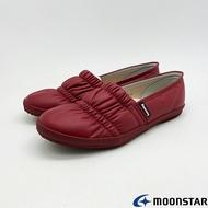 ◍零碼◍日本月星Moonstar機能介護鞋COMFORT CASUAL系列寬楦輕量柔軟鞋款2174紅(銀髮段)SUPER SALE樂天購物節