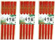 Lot Of 30 (15 Pair) Asian Oriental Chopsticks w/Dragon Painting/Chop Sticks Red