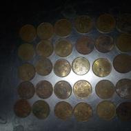 香港1977.1978.1979年間的五毫銅幣各10枚共30枚一組,,非常希少